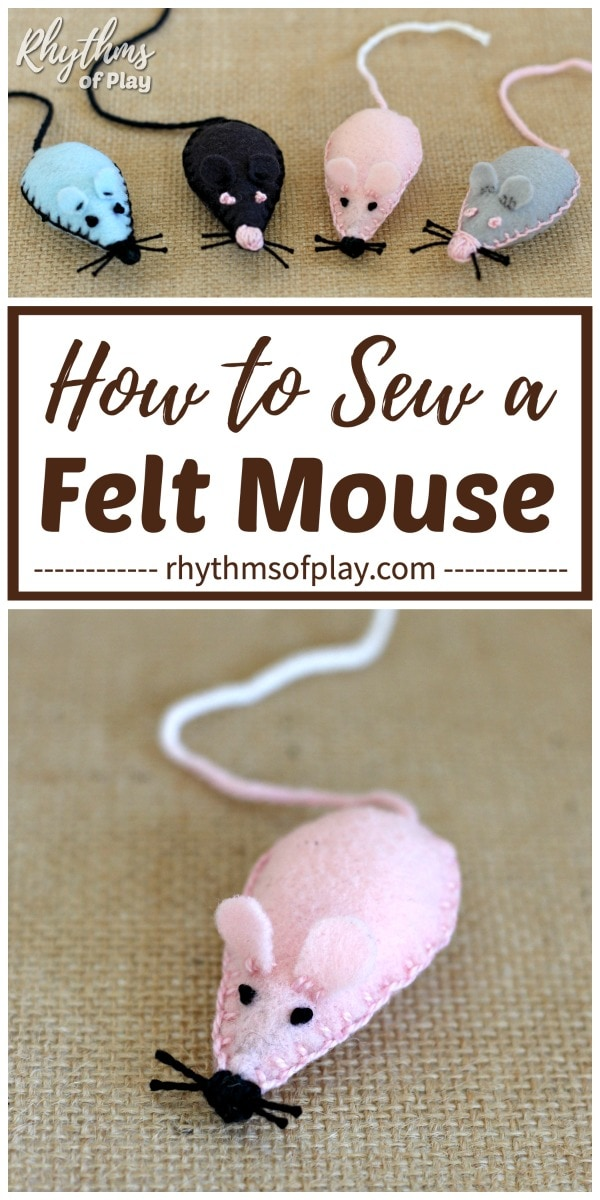 how to make a felt mouse DIY toy