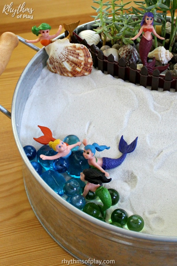 mermaid fairy garden DIY ideas