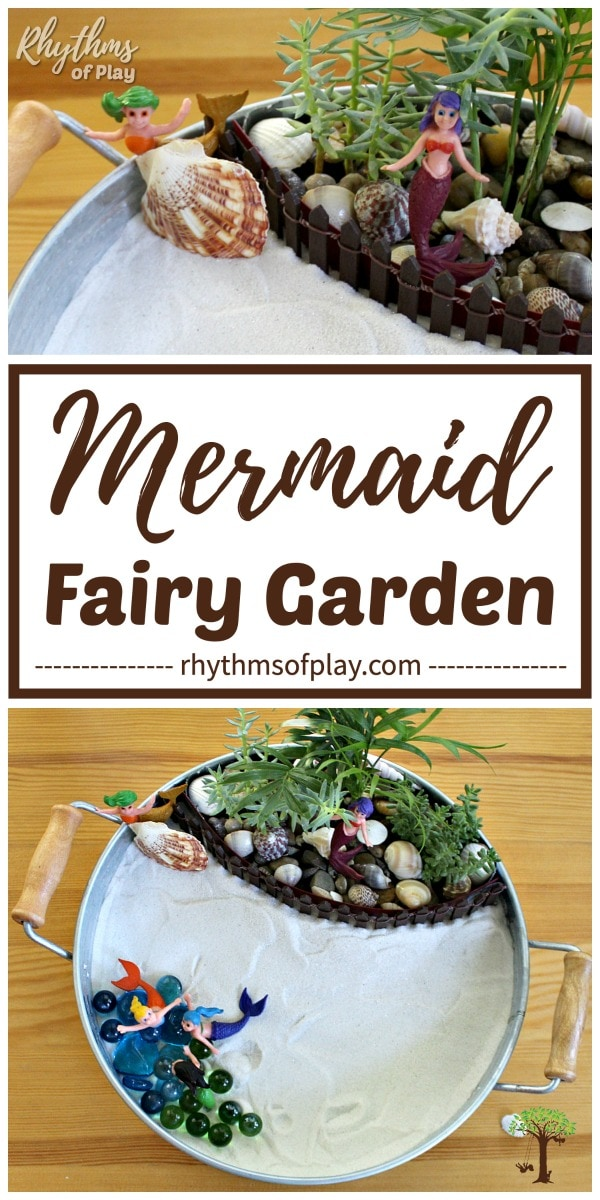 Mermaid Fairy Garden Ideas and other beach themed fairy gardens