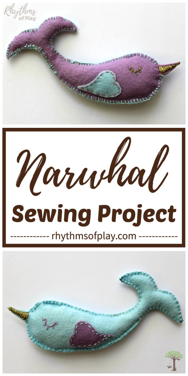 narwhal softie sewing project