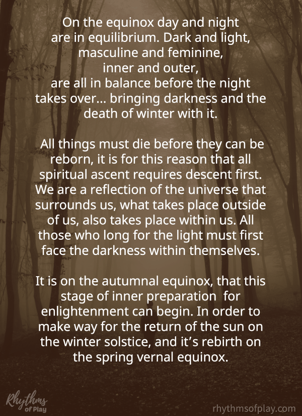 Spiritual meaning of Mabon - Fall Autumnal Equinox by Nell Regan