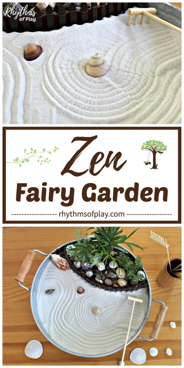 zen garden - make a miniature desktop zen fairy garden with this easy DIY tutorial!