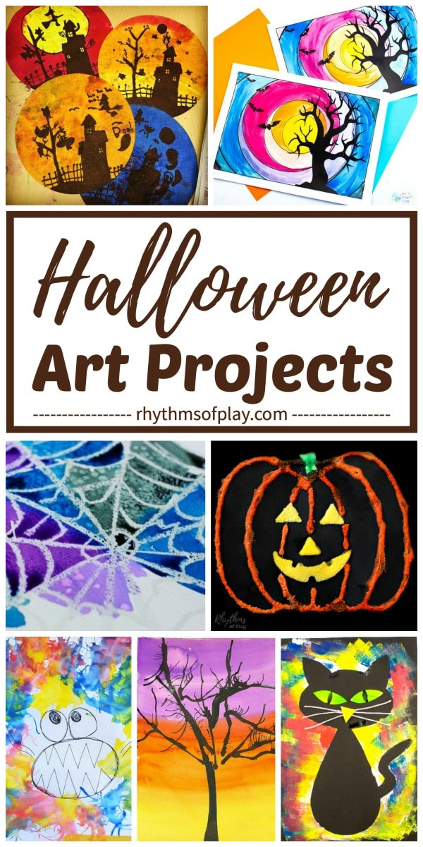 Halloween art projects and art activities for kids