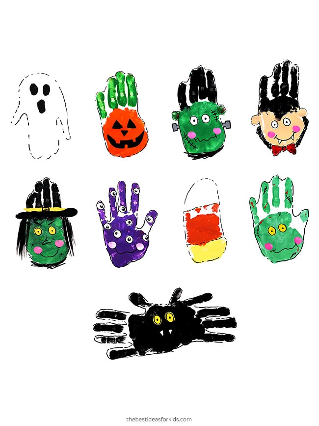 Halloween Handprint Art Ideas