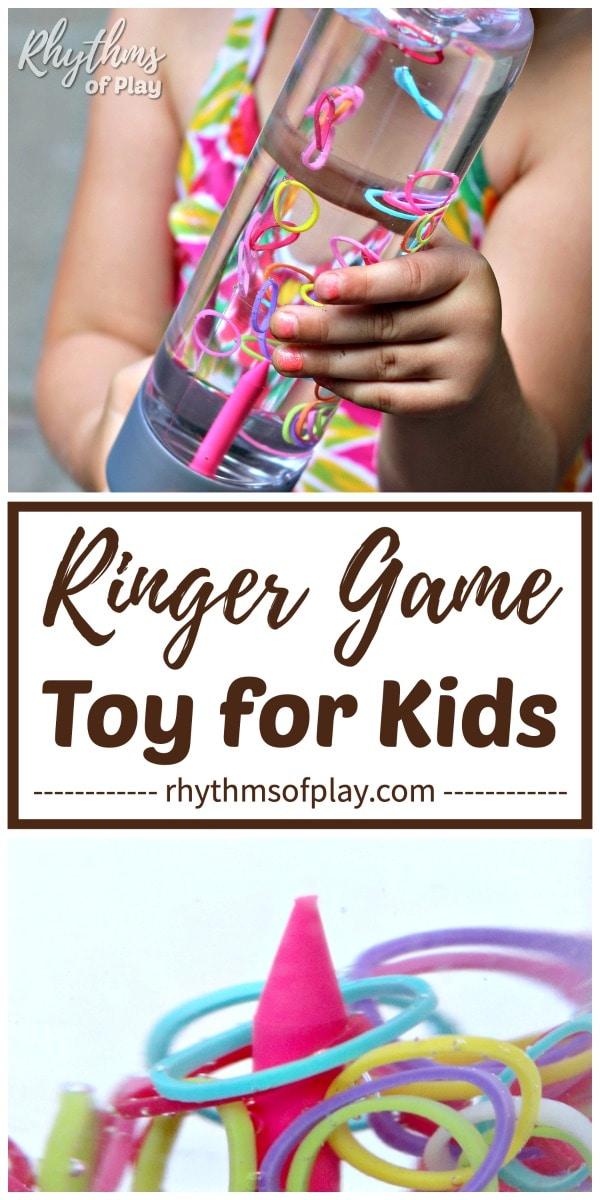 loom band sensory bottle game for kids