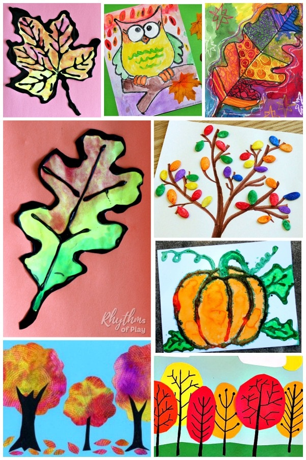 fall art projects for kids: gorgeous autumn art ideas