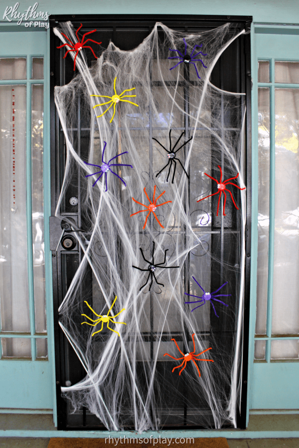 Spider Halloween door decorations for home, school, or the office