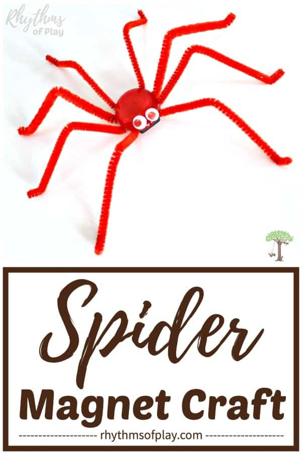 magnetic spider craft - Halloween spider craft