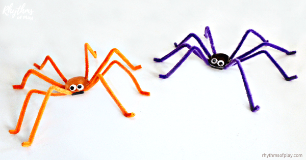 spider magnet craft - Halloween spider craft
