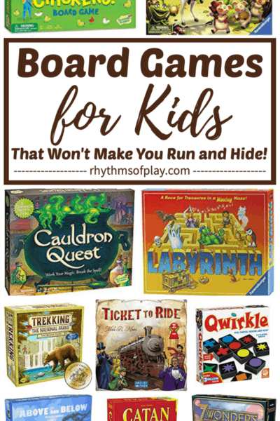 Picture showing best board games for kids included on this list of family games.