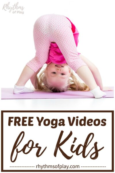 toddler aged kid doing yoga on a yoga mat