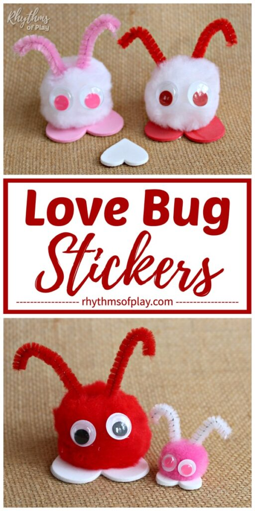 love bug crafts in different colors and sizes