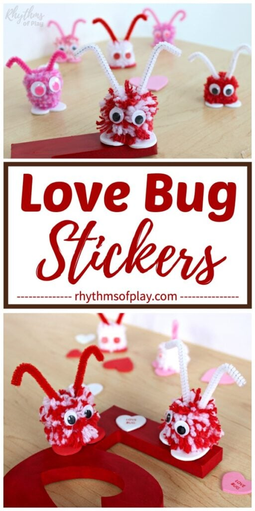 Love bug pom pom craft ideas for kids and adults