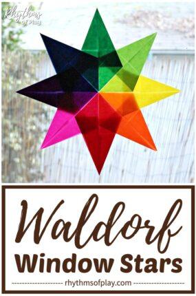 Waldorf window stars tutorial