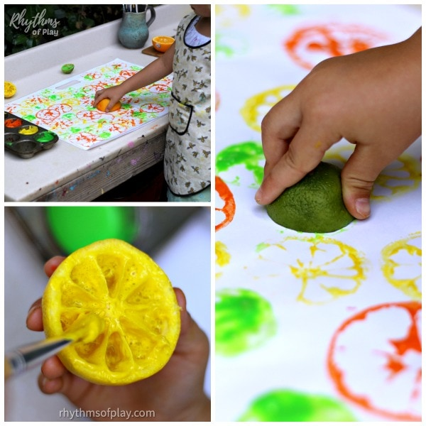 demonstration of citrus printing process art technique