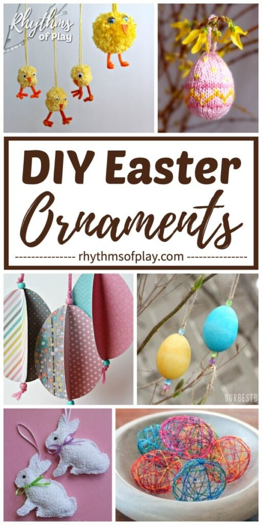 Homemade Easter ornaments and DIY Easter Decor