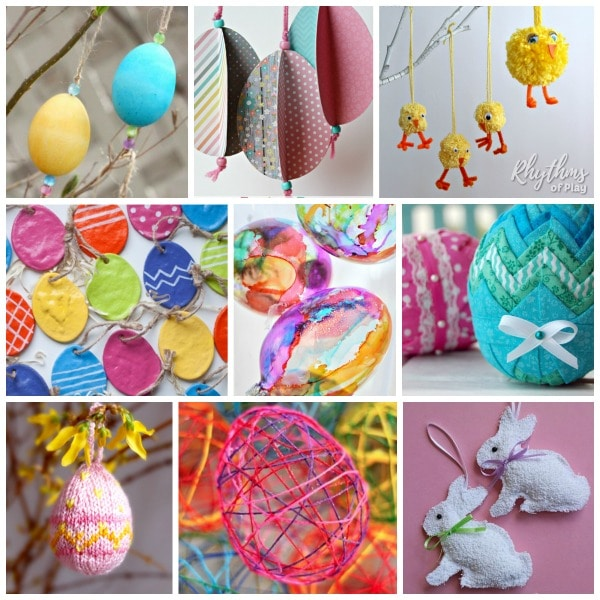 Homemade Easter Egg Tree decorations and DIY Easter ornaments