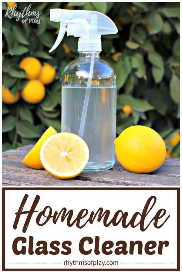 homemade glass cleaner made with all-natural ingredients