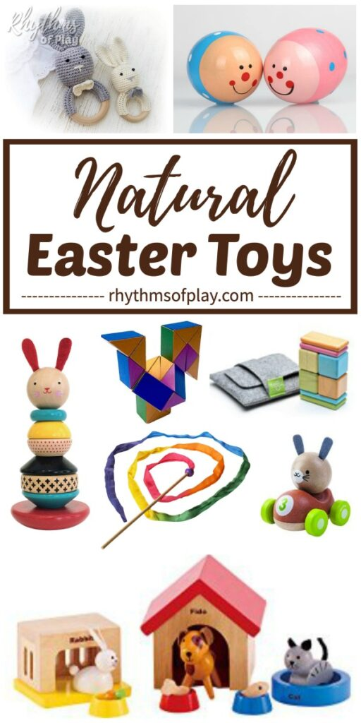 Natural and Organic Easter toys for kids make the best Easter basket fillers!