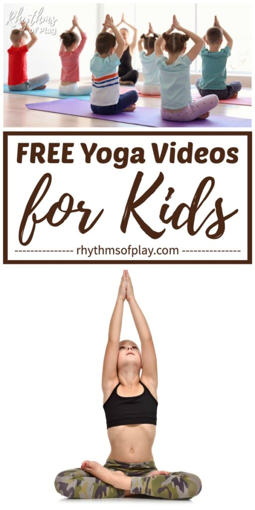 free yoga videos for kids with children practicing yoga asanas for toddlers to teens