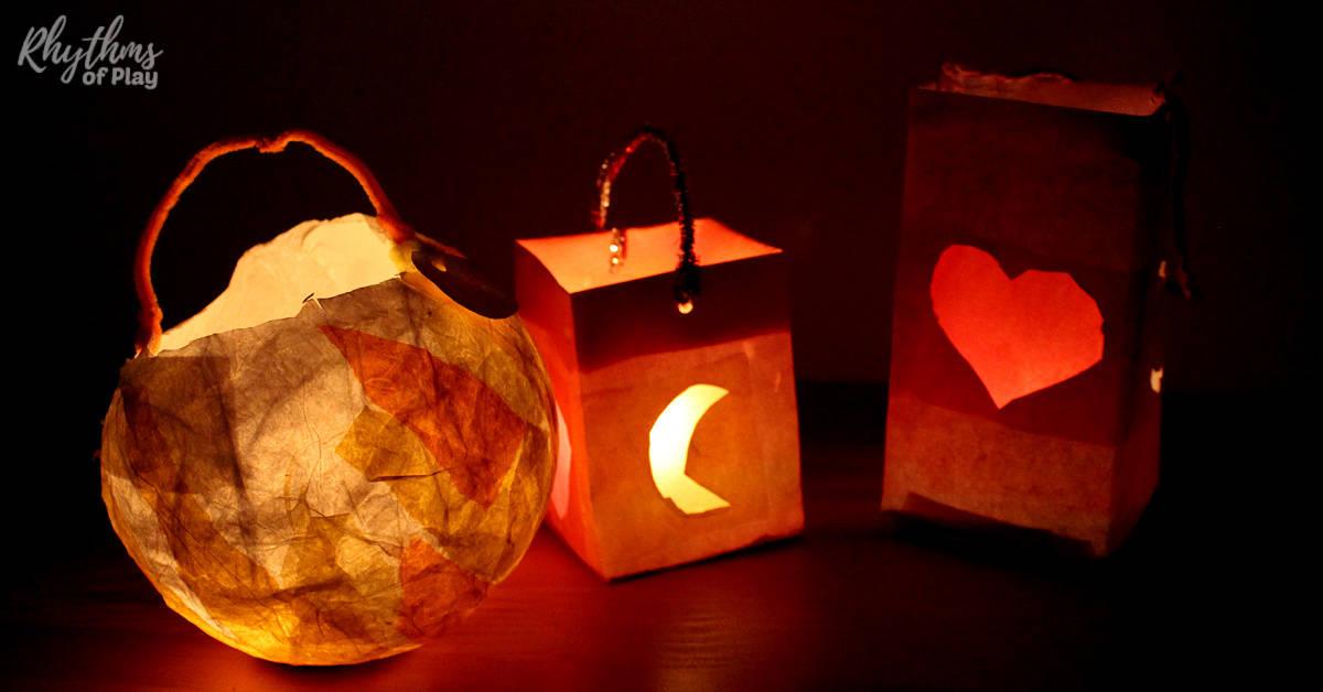 Martinmas lanterns for lantern walk