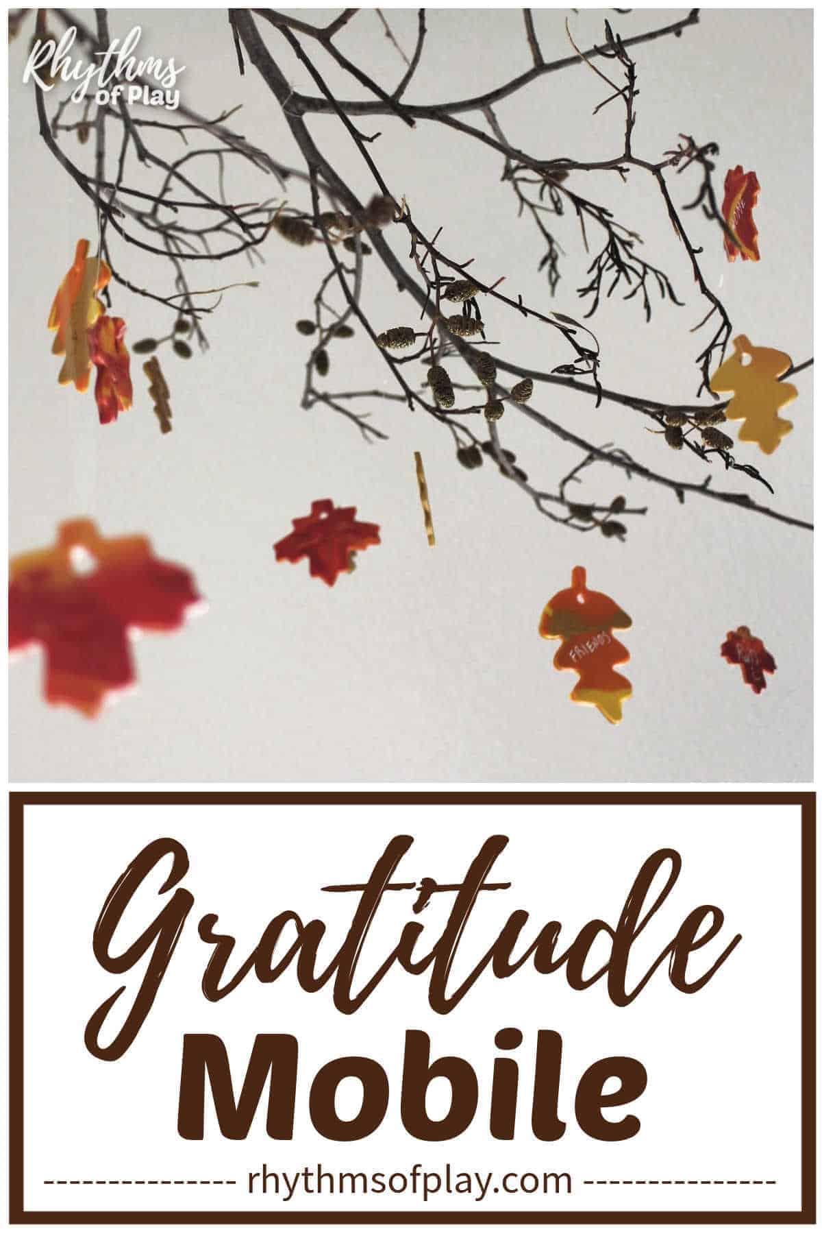 Thanksgiving gratitude mobile craft