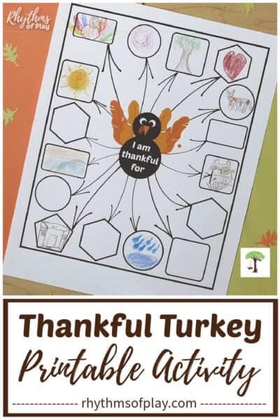 thankful turkey printable thanksgiving gratitude activity