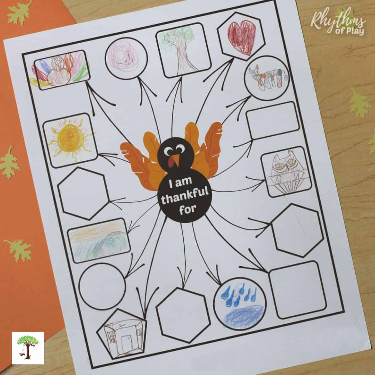 Thanksgiving thankful turkey printable gratitude activity for kids and adults