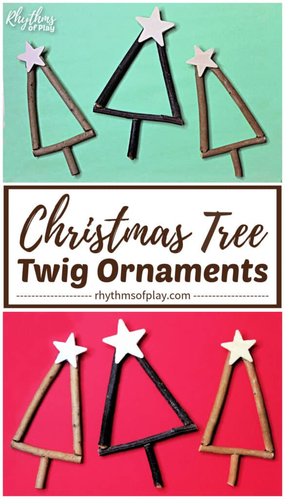 How to make twig ornaments to decorate the Christmas tree