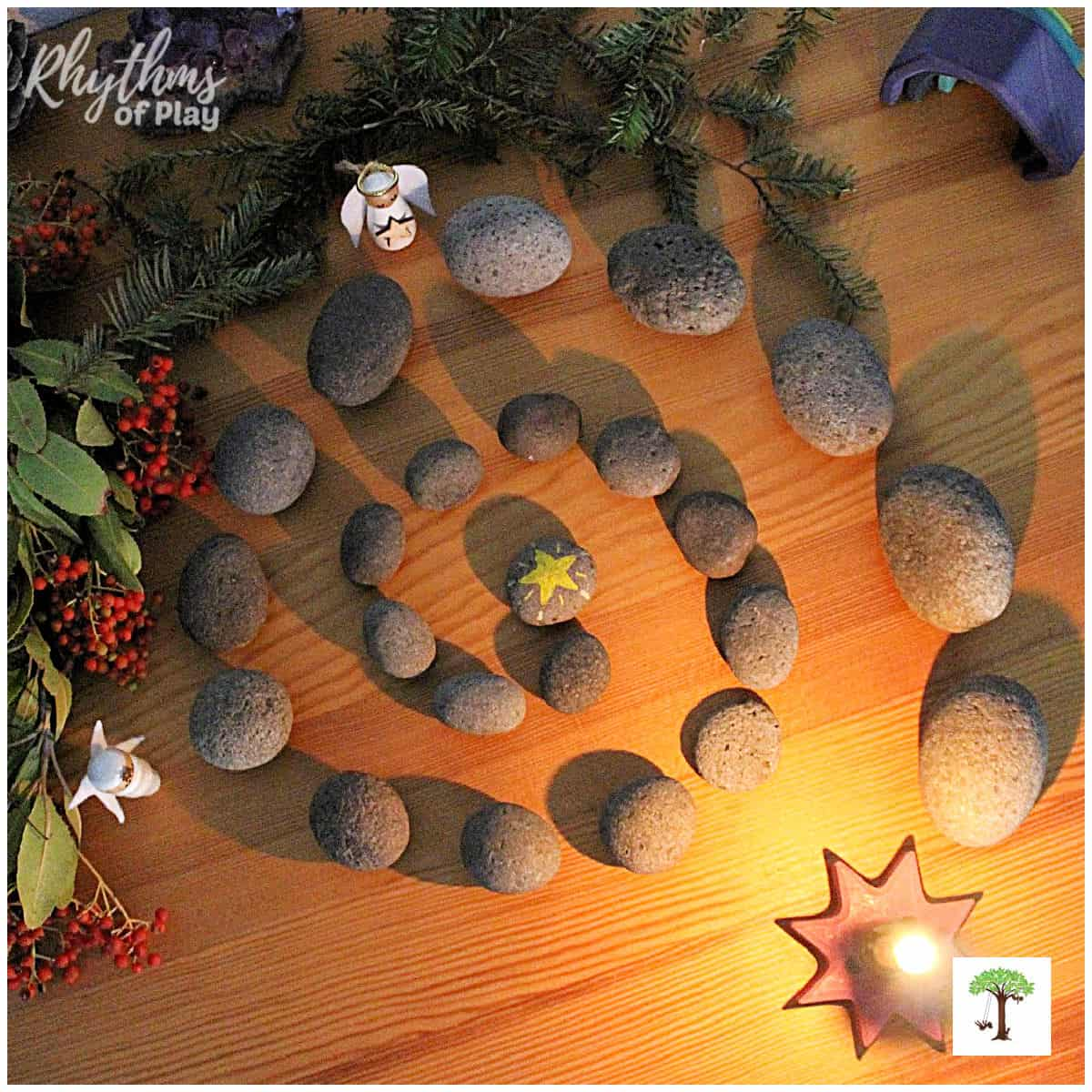 Advent spiral winter solstice countdown calendar