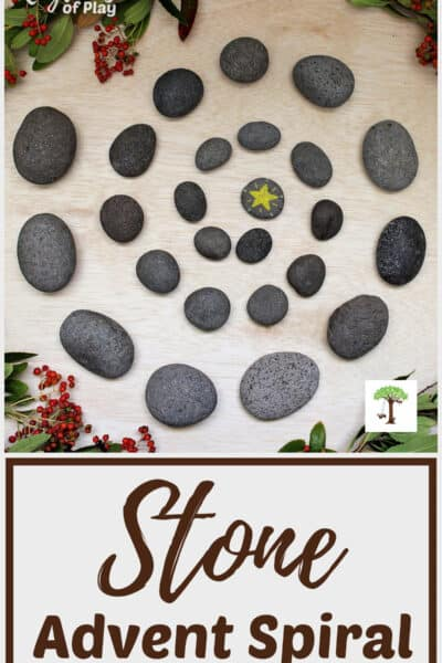 DIY Waldorf-inspired Advent spiral made out of stones