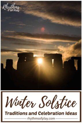 sunset at Stonehenge on winter solstice