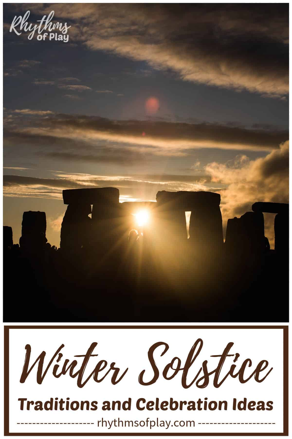 sunset over Stonehenge on the winter solstice