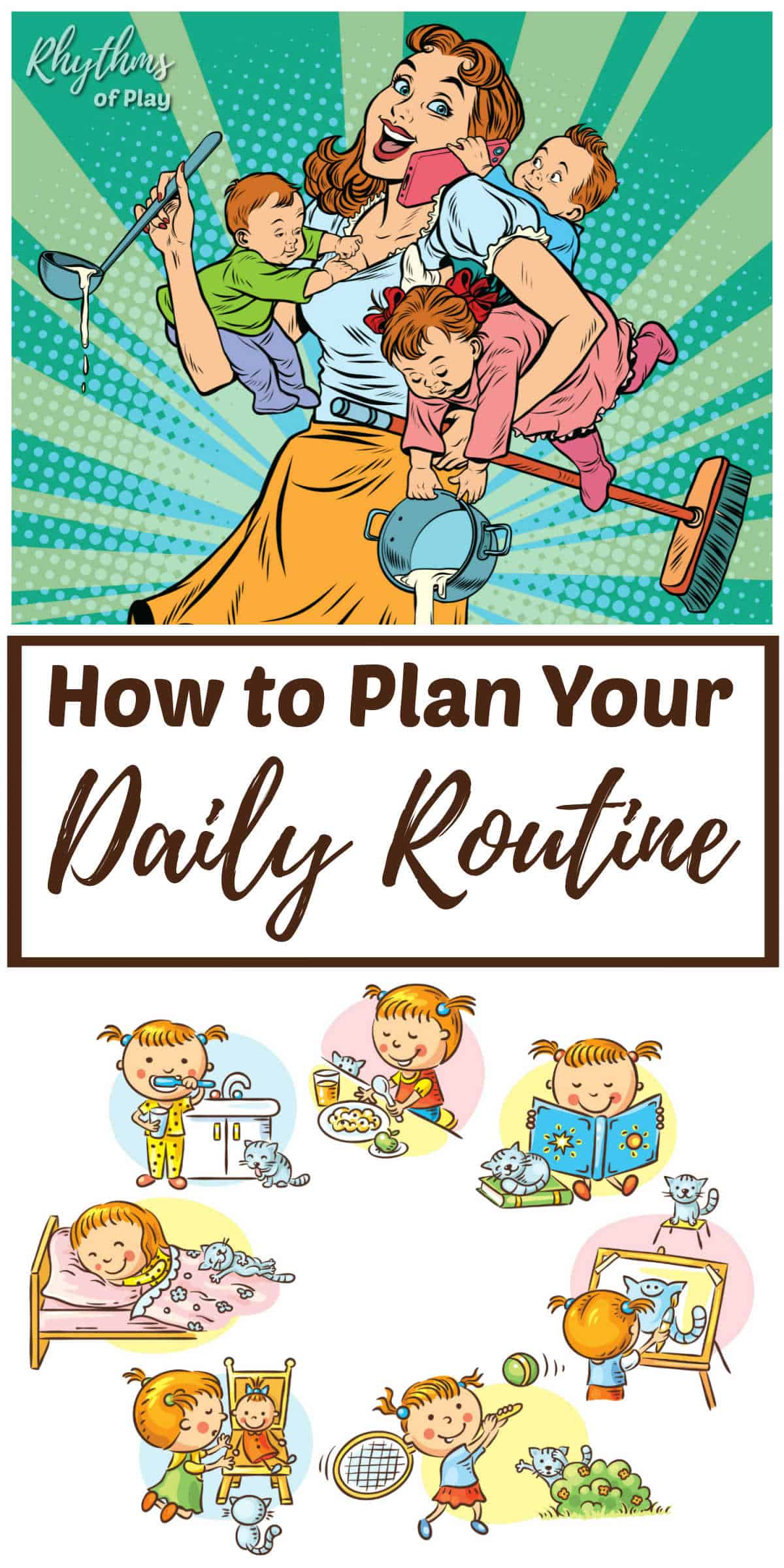 Waldorf daily rhythm or daily routine tips for parents, caregivers and educators
