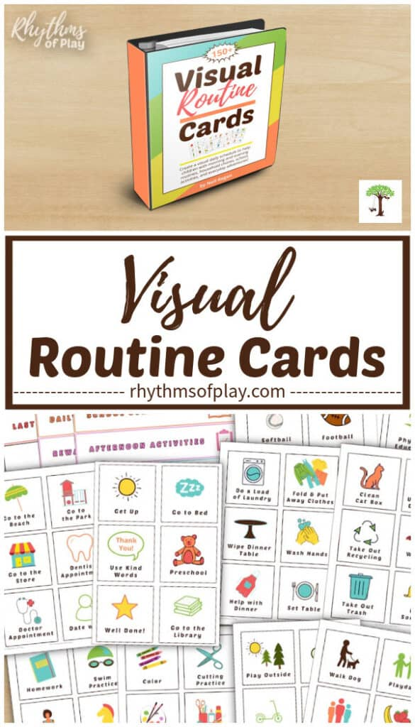 printable visual routine cards for a visual activity chart