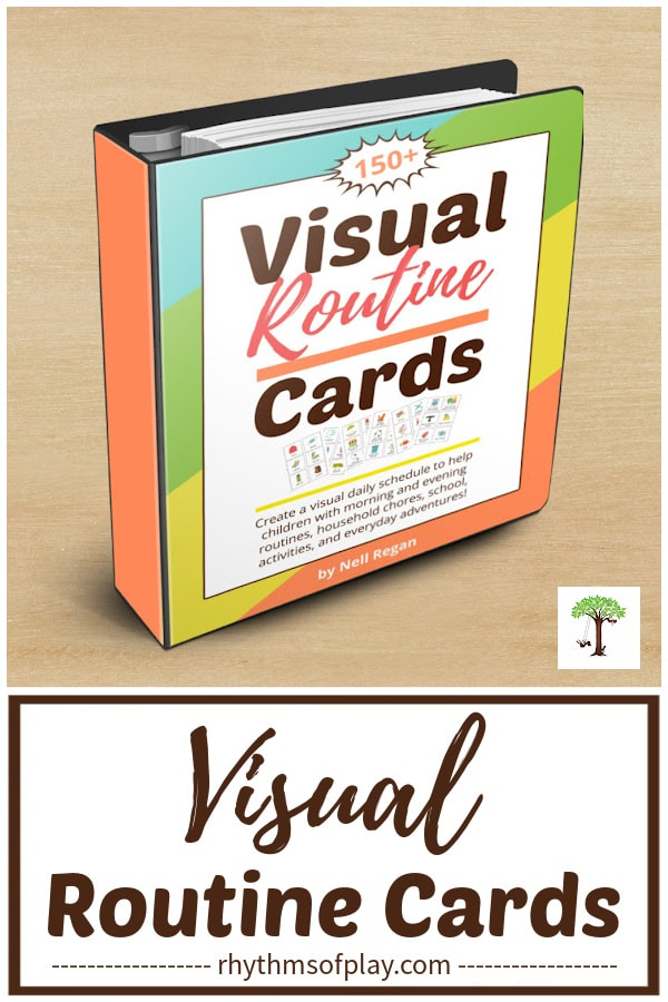 Visual activity cards printable cover for binder