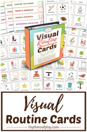 printable visual routine cards for toddlers, preschoolers, autistic and special needs kids