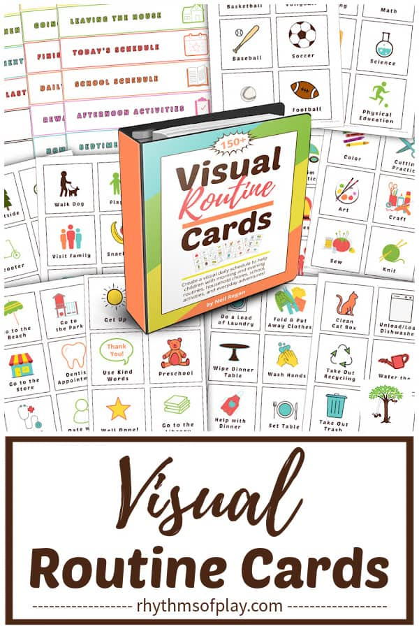 printable visual activity cards and labels for toddlers, preschoolers, kindergarteners, autistic kids, and children with special needs